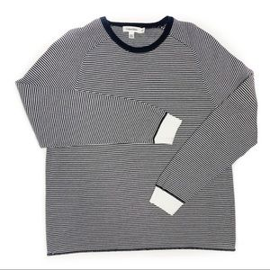 Calvin Klein Crew Neck Black White Stripe Sweater